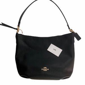 NWT COACH Skylar Hobo black pebble leather bag.
